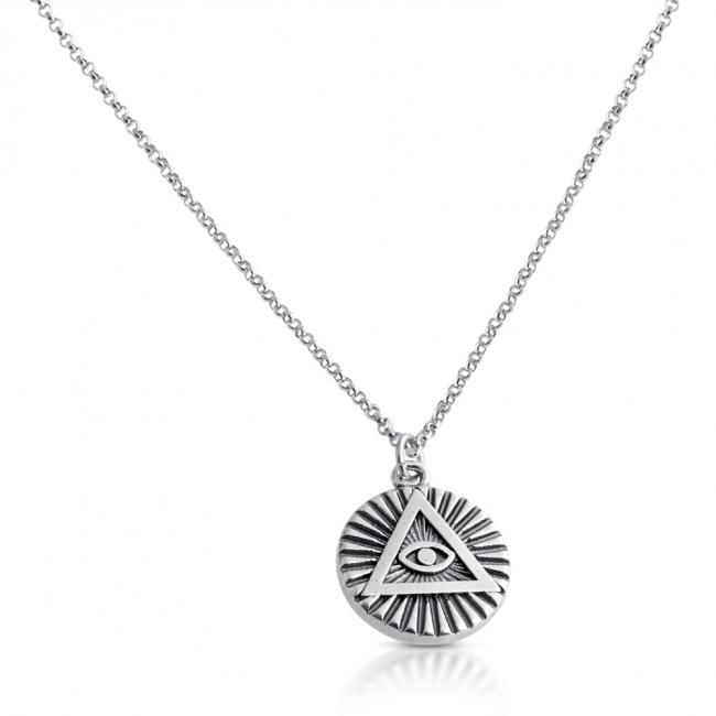 925 sterling silver necklace <strong>Illuminati</strong> Circle