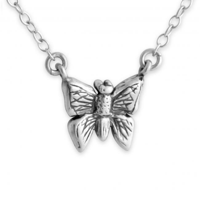 925 sterling silver necklace Butterfly Jump Ring Necklace