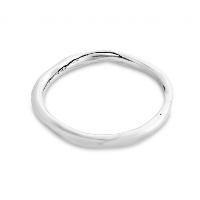 925 sterling silver ring Thinner Textured Ring