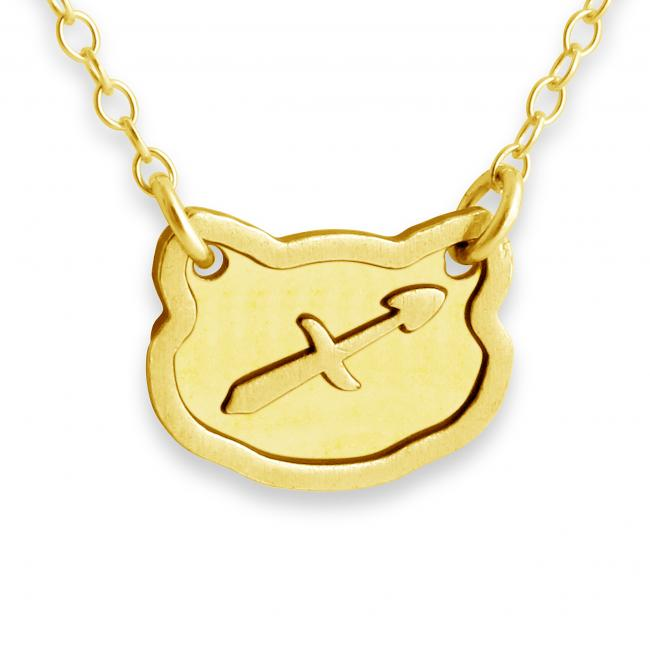 Gold plated necklace Sagittarius Zodiac Sign