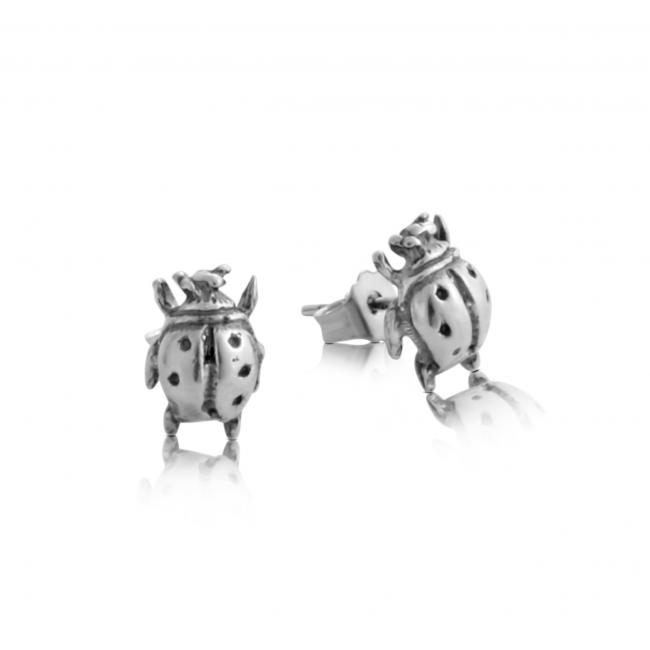 925 sterling silver earrings Ladybug