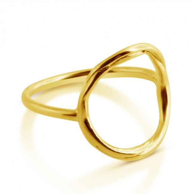 Gold plated ring Large Karma Ring