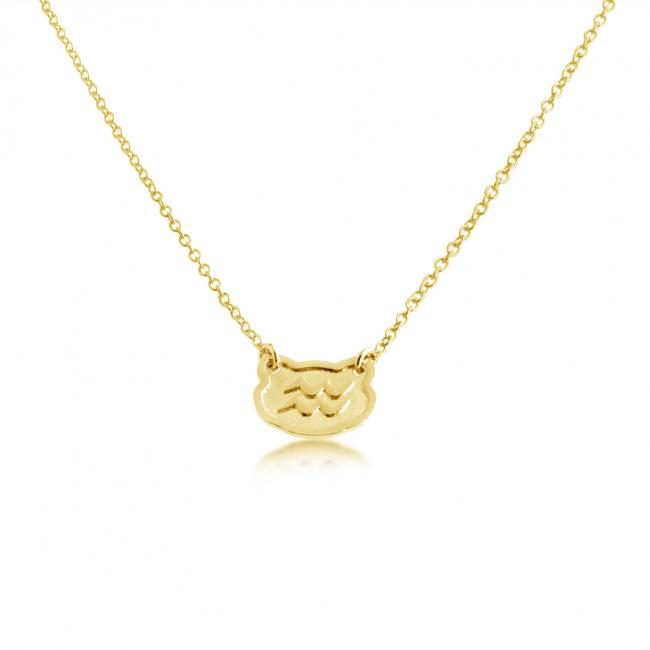 Gold plated necklace Aquarius Zodiac Sign