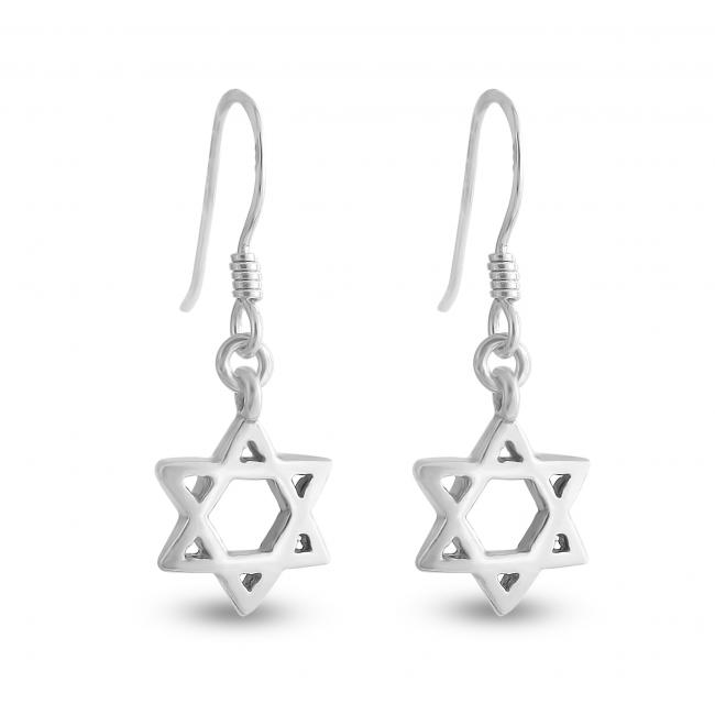 925 sterling silver earrings Star of David