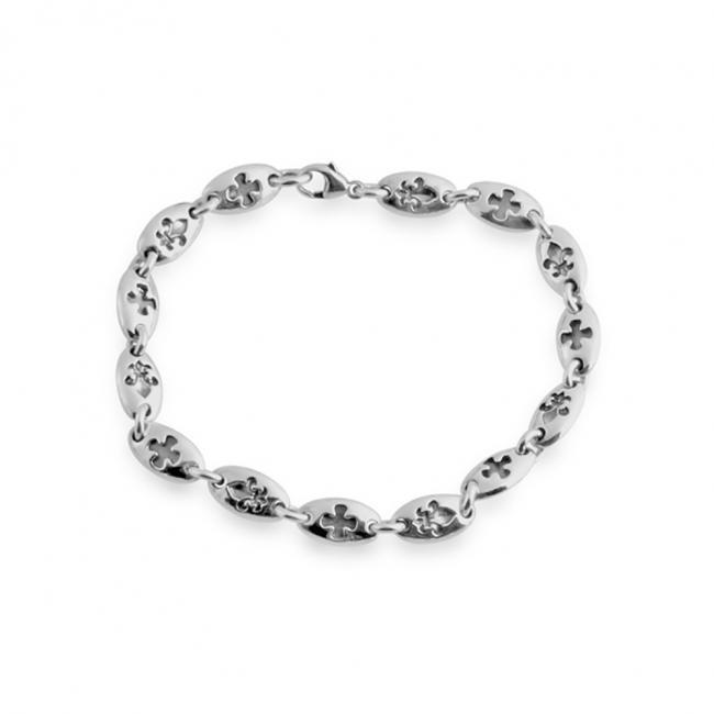 925 sterling silver bracelet Cross Chain