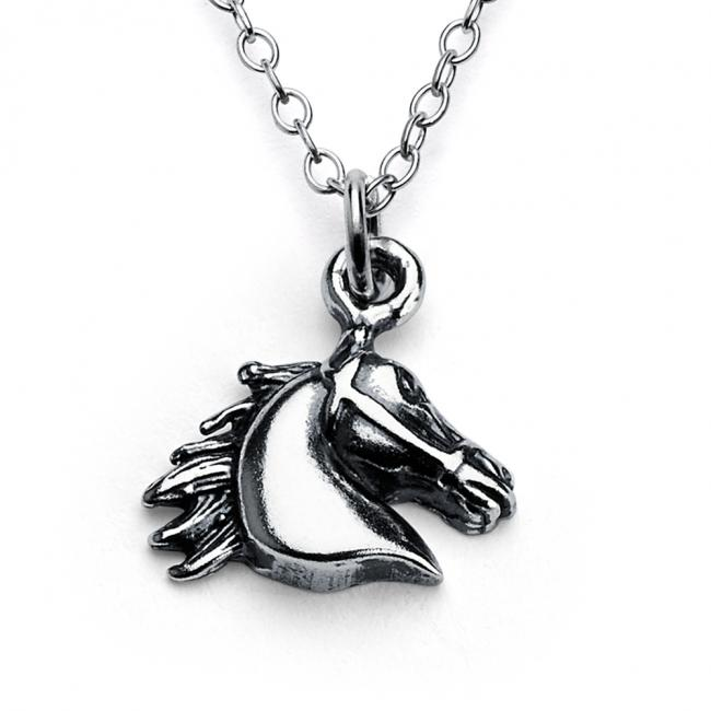 925 sterling silver necklace Horse Head Animal