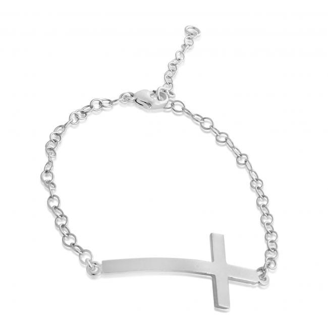 925 sterling silver bracelet Bent Cross