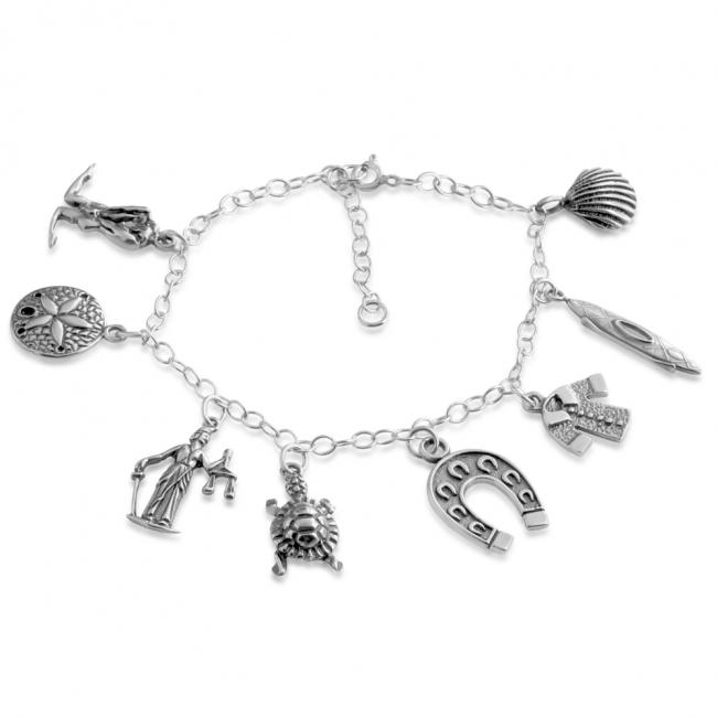 925 sterling silver bracelet Seasons of Life Multi Charm