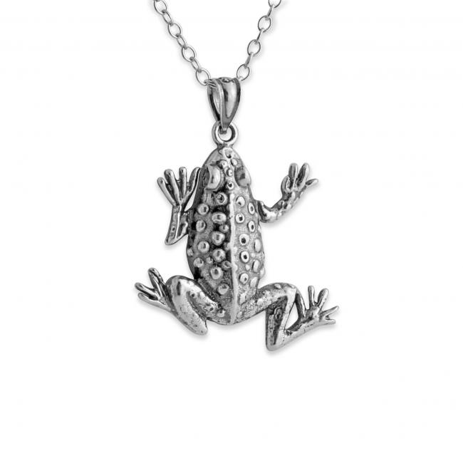 925 sterling silver necklace Frog