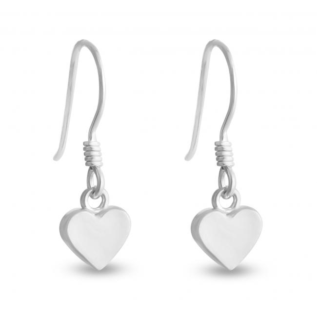 925 sterling silver earrings Heart