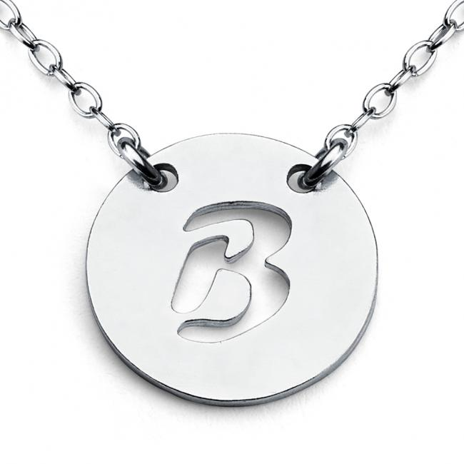 925 sterling silver necklace B Open Letter