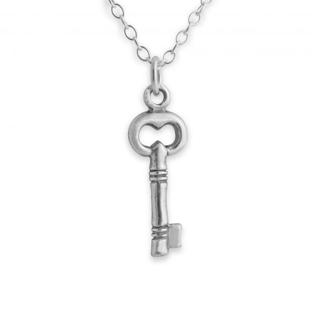 925 sterling silver necklace Tiny Key