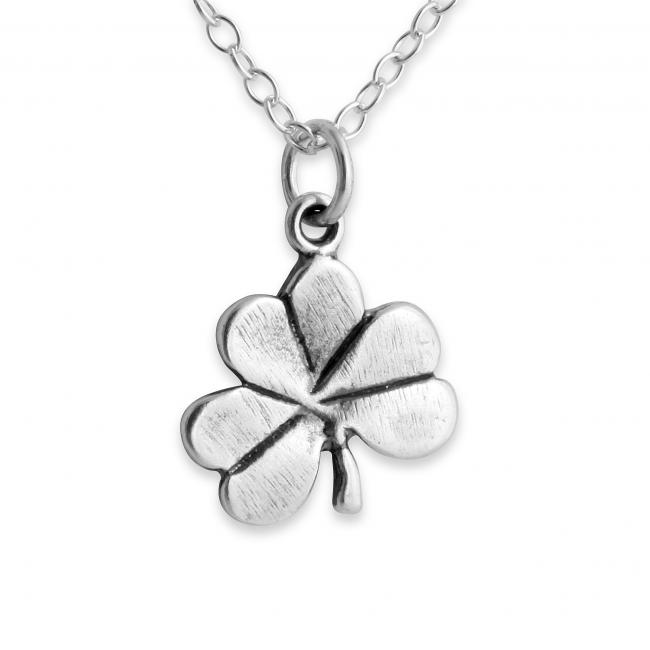 925 sterling silver necklace Shamrock Clover Irish Lucky
