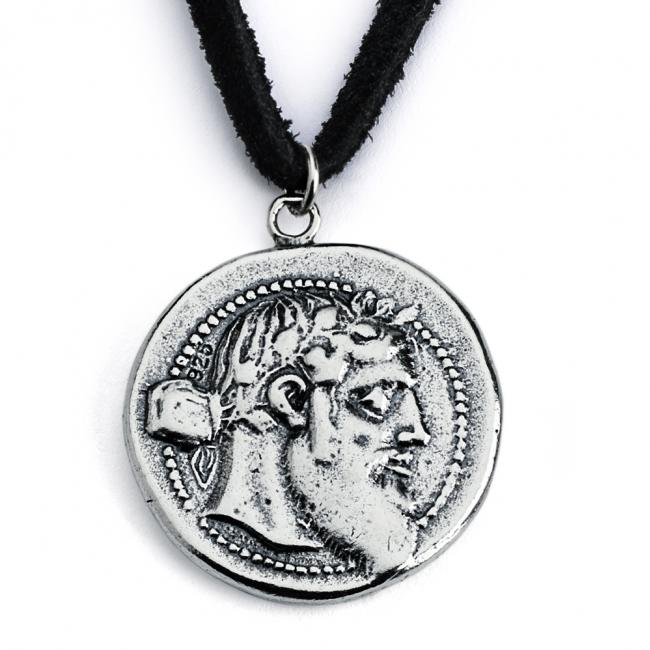 925 sterling silver necklace Replica Dionysus Greek God Ancient COIN