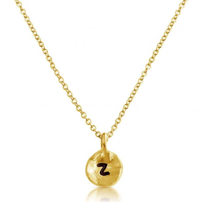 Gold plated necklace Letter Z Passion Initial