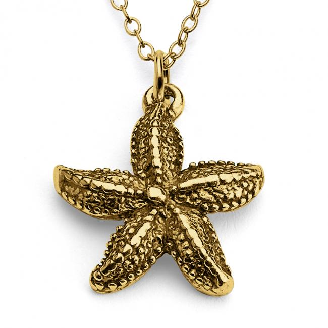 Gold plated necklace Starfish Sea Star Water World