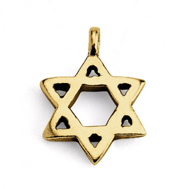 Gold plated necklace Star of David Jewish Religious Symbol
