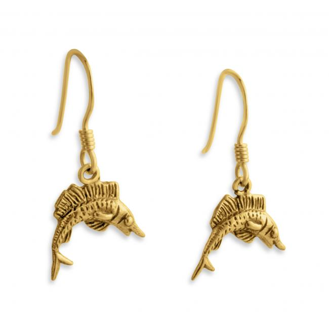 Gold plated earrings Marlin