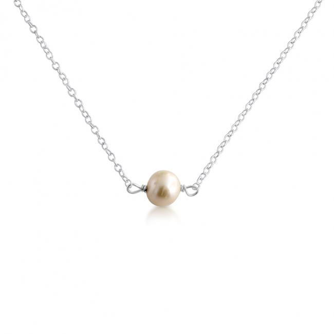 925 sterling silver necklace White Pearl