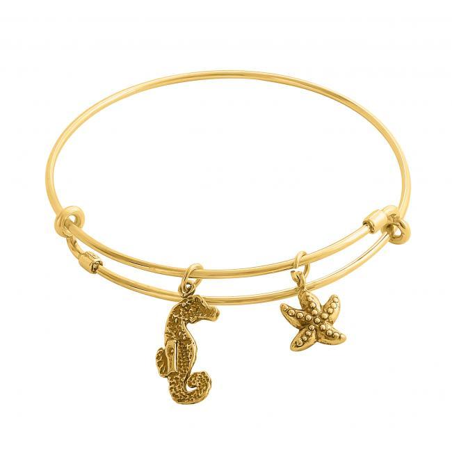 Gold plated bracelet Scuba Dive World Adjustable Wire Bangle