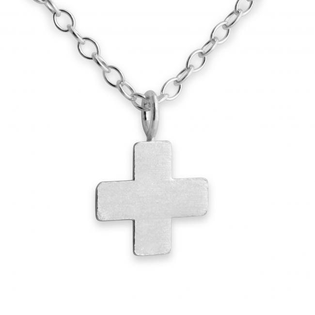 925 Sterling Silver Necklace Greek Cross