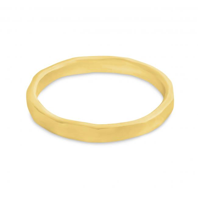 Gold plated ring Chiseled Stackable Ring