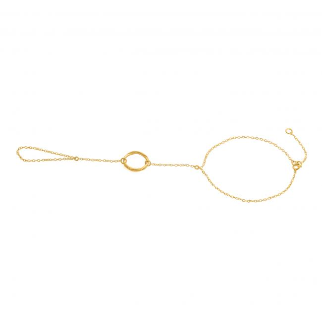 Gold plated anklet Karma Ring Toe Ring Anklet