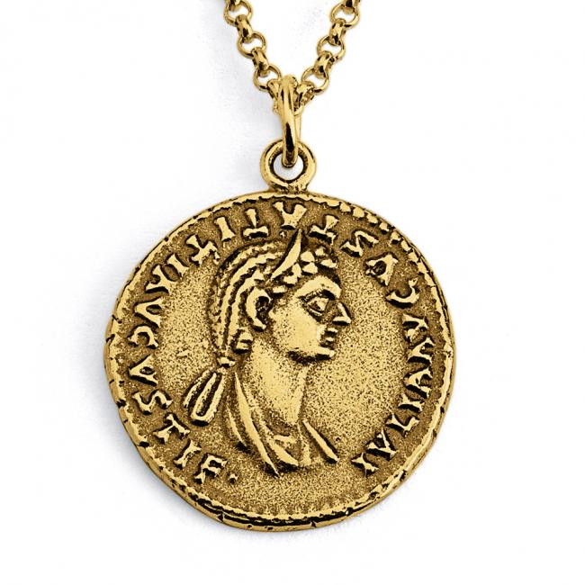Gold plated necklace Replica Julia Titi Roman Emperor's Daugther Ancient COIN