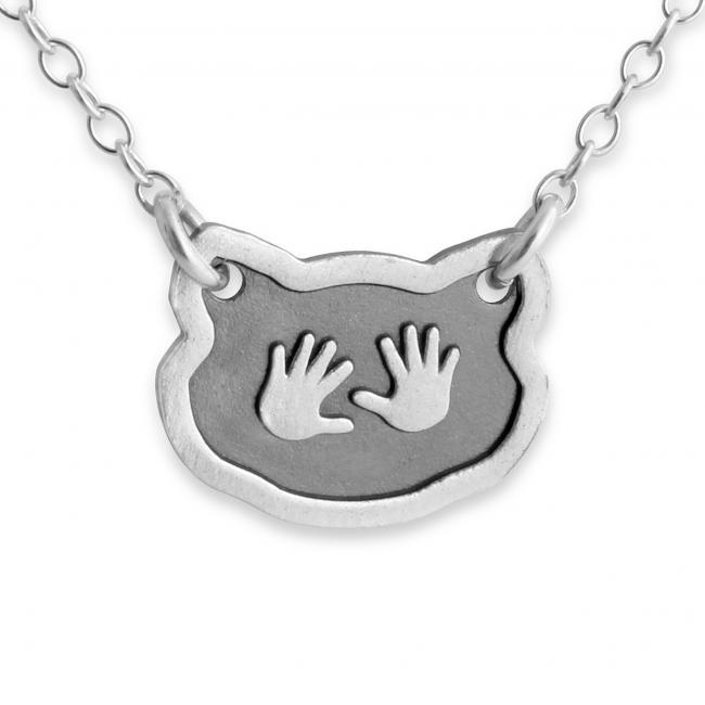 925 sterling silver necklace Baby Hands