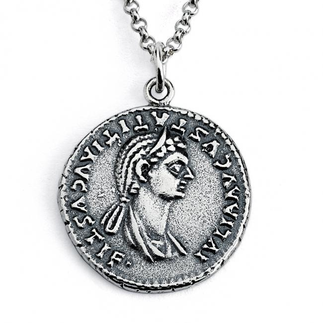925 sterling silver necklace Replica Julia Titi Roman Emperor's Daugther Ancient COIN