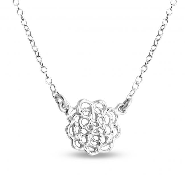 925 sterling silver necklace Filigree Lotus Blossom Flower