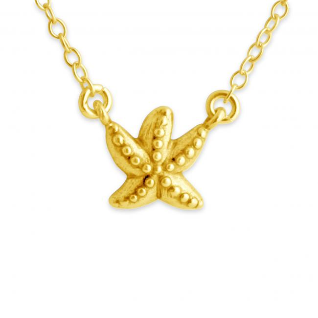 Gold plated necklace 3D Starfish