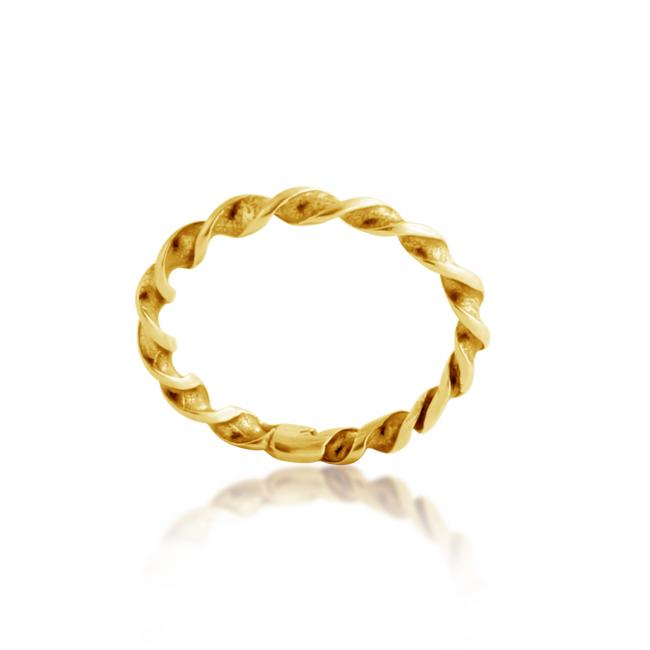 Gold plated ring Twisted Ring