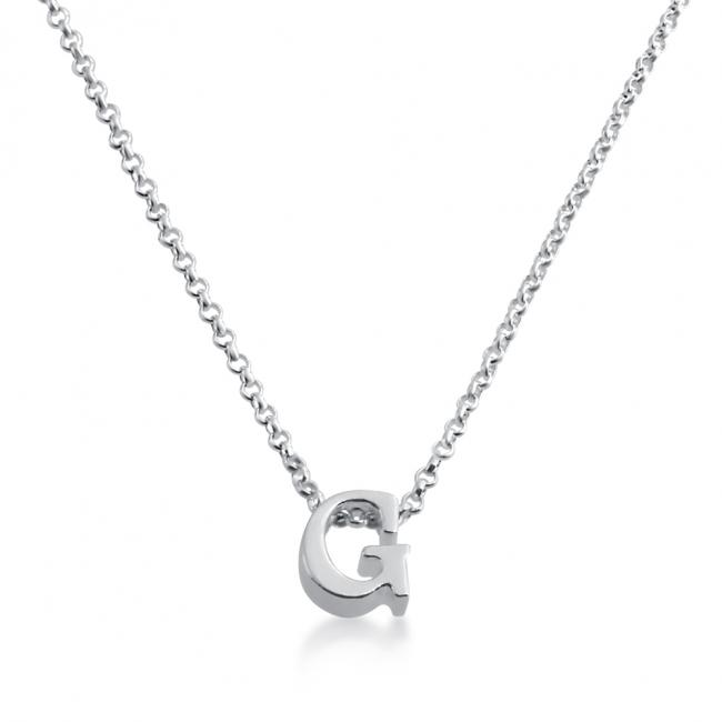 925 sterling silver necklace Initial Letter G Personalized Symbols & Letters Serif Font