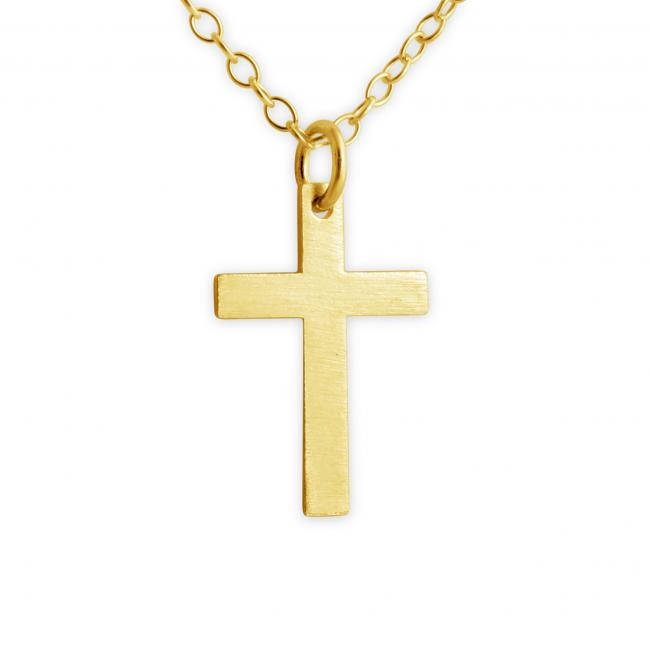 Gold plated necklace Cross