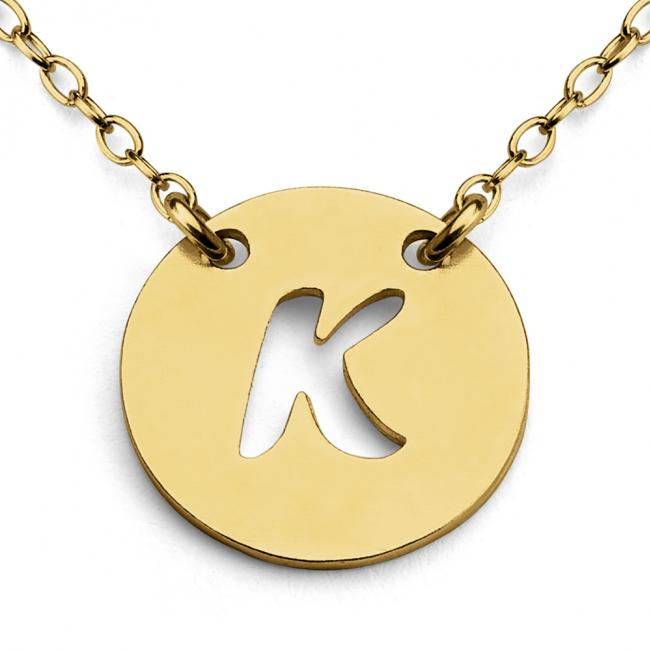 Gold plated necklace K Open Letter