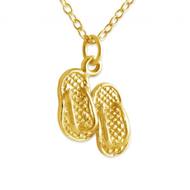 Gold plated necklace Tiny Slippers