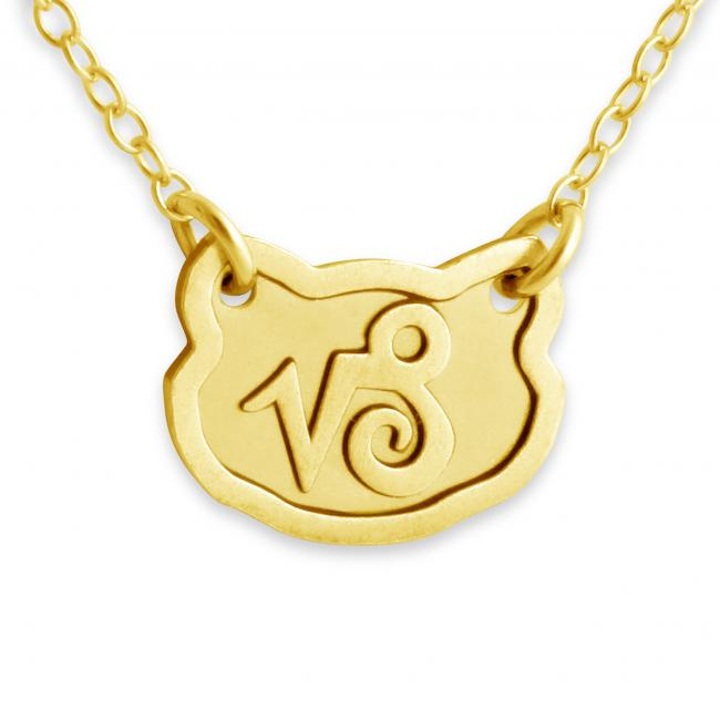 Gold plated necklace Capricorn Zodiac Sign