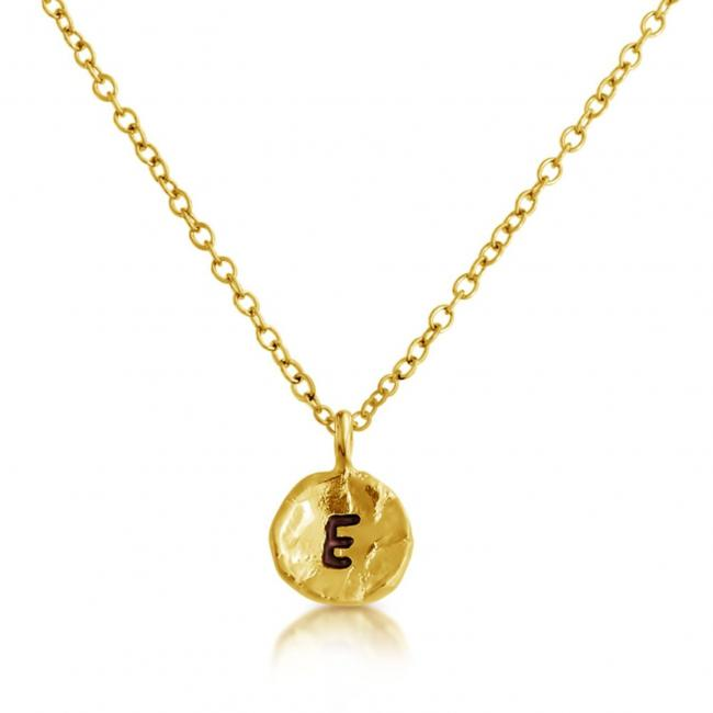 Gold plated necklace Letter E Passion Initial