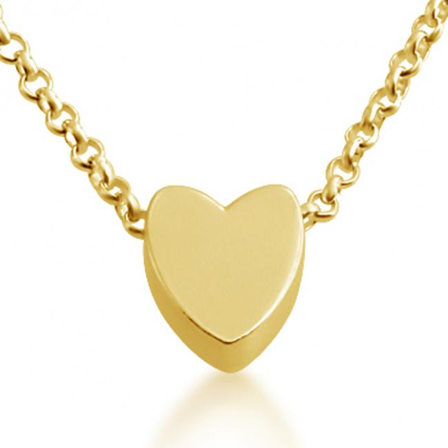 Gold plated necklace Initial Letter Heart Personalized Symbols & Letters Serif Font