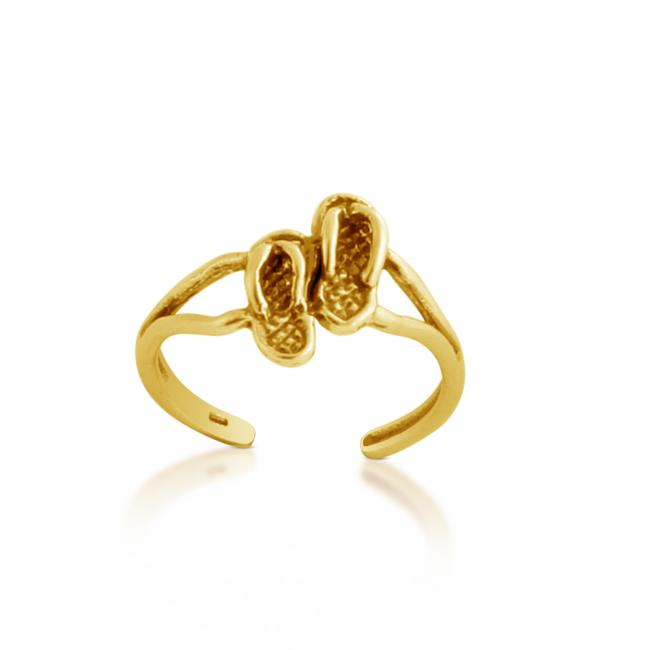 Gold plated ring Slippers Pair Adjustable Toe Ring