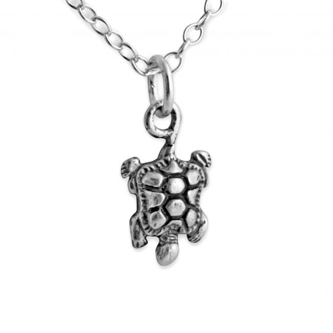 925 sterling silver necklace Baby Turtle Tortoise Reptile
