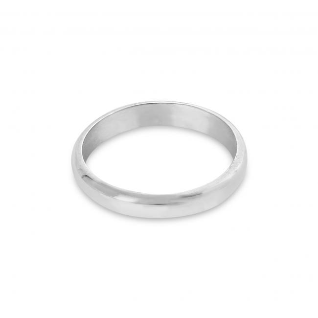 925 sterling silver ring Wedding Band 3mm