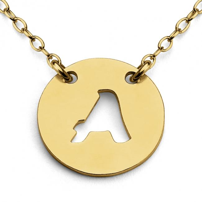 Gold plated necklace A Open Letter