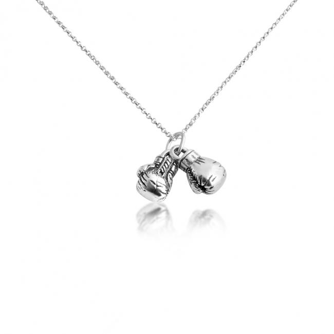 925 sterling silver necklace Boxing Gloves