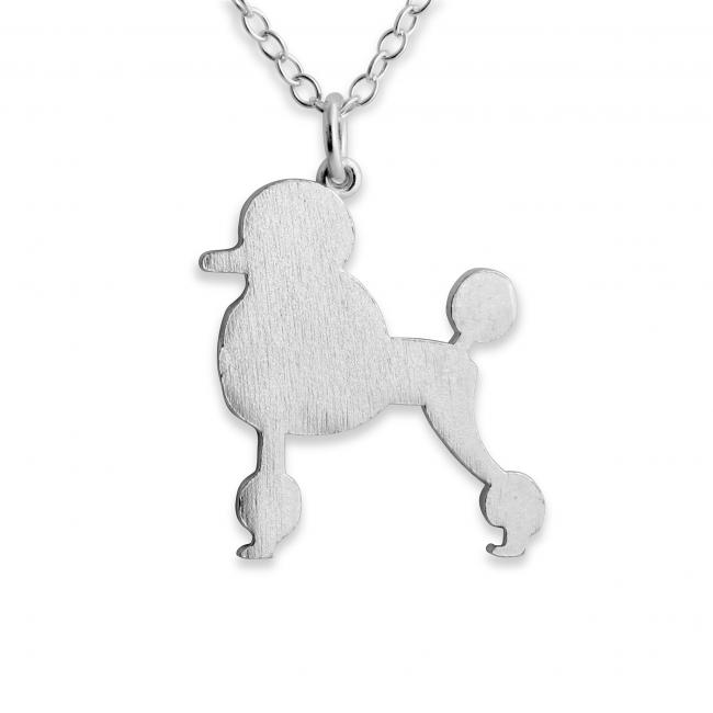 925 sterling silver necklace Poodle (Silhouette)