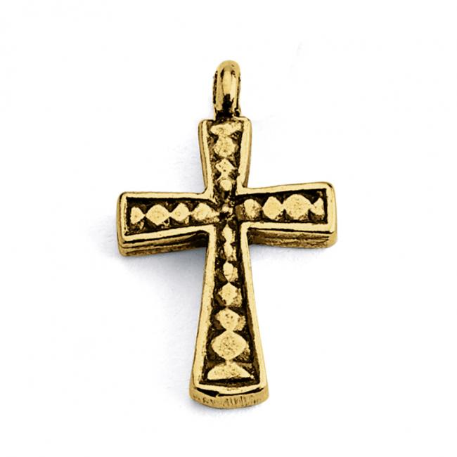 Gold plated necklace Holy Cross Religious Double Sided