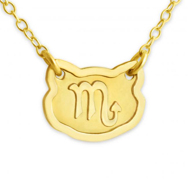 Gold plated necklace Scorpio Zodiac Sign
