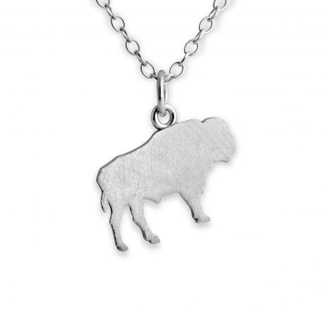 925 sterling silver necklace Buffalo/ Bison