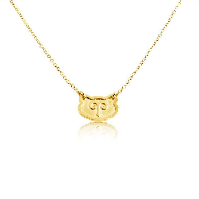 Gold plated necklace Aries Zodiac Sign